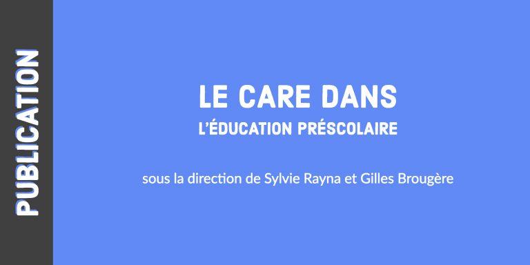 Le care dans l'éducation préscolaire