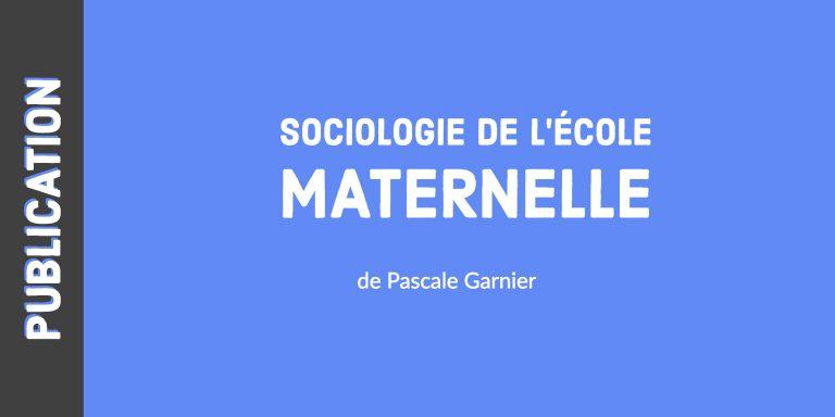 Sociologie de l'école maternelle