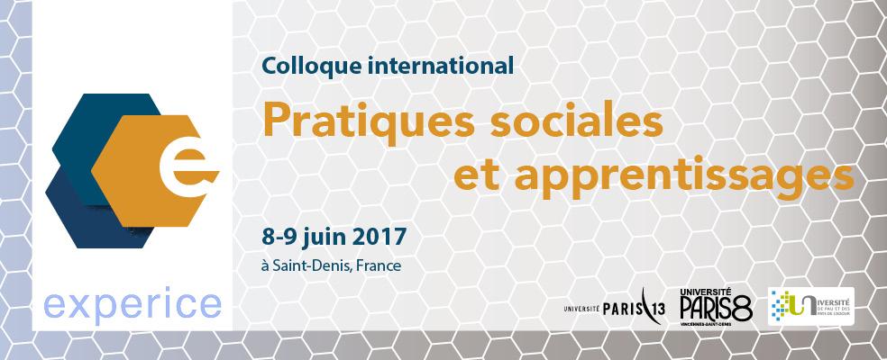 """Colloque """"Pratiques sociales et apprentissages"""""""